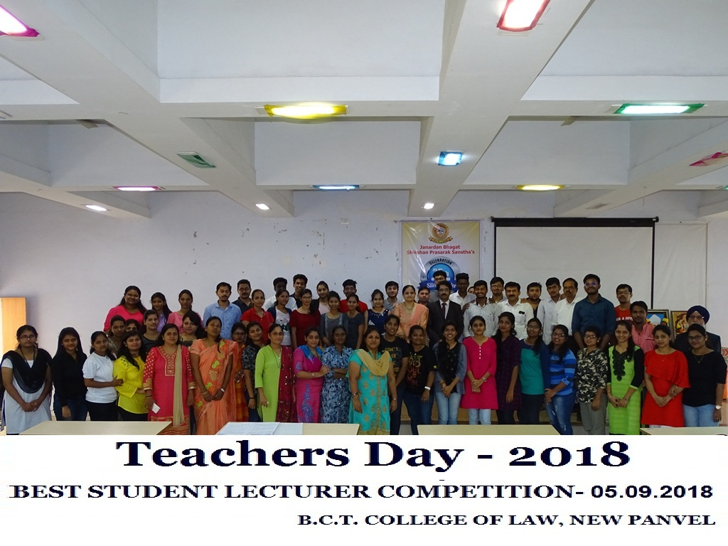 Teacher's Day 2018 – Best Student Lecturer Competition