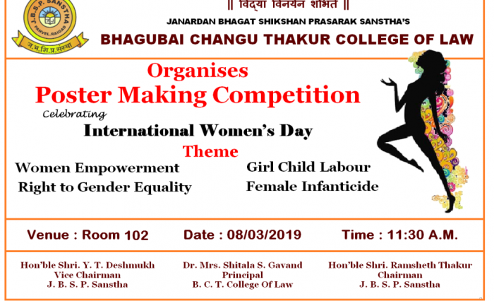 Women's Day – Poster Making Competition – Bhagubai Changu